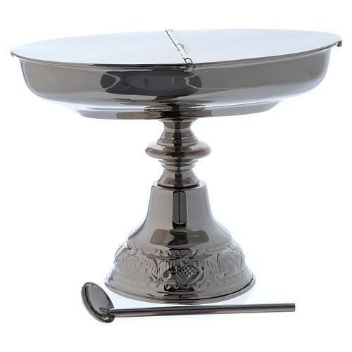 Navetta classica con cucchiaino e turibolo nickel 4