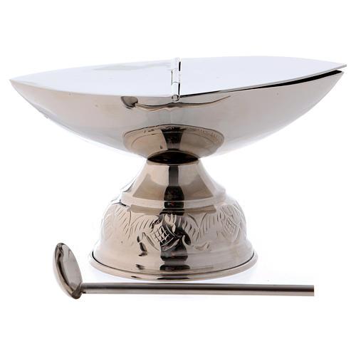 Encensoir et navette avec cuillère argentée 3