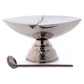 Encensoir et navette avec cuillère en finition argentée s3