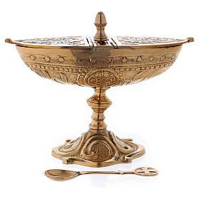 Classic-style censer in golden brass s1