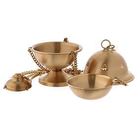 Censer in matte gold-plated brass 10 cm s2