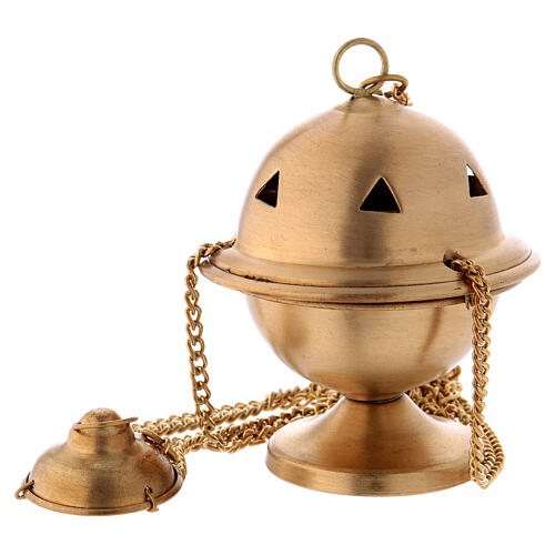 Matte gold plated brass thurible h 4 in 1