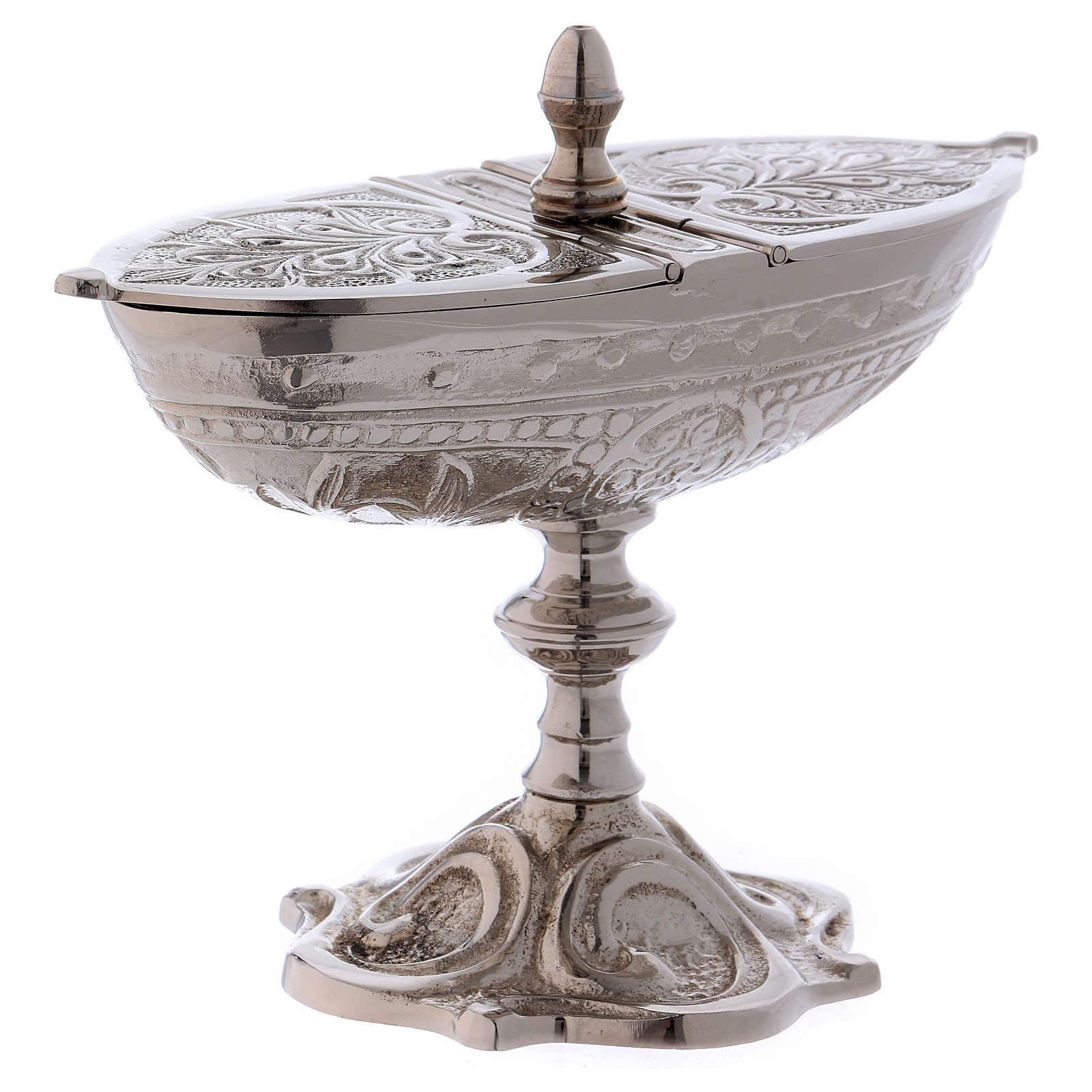 Classic-style censer in silver-plated brass 3