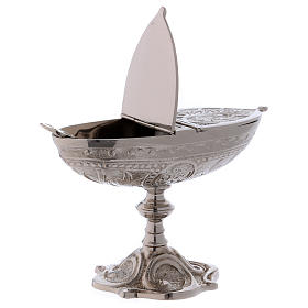 Classic-style censer in silver-plated brass s2
