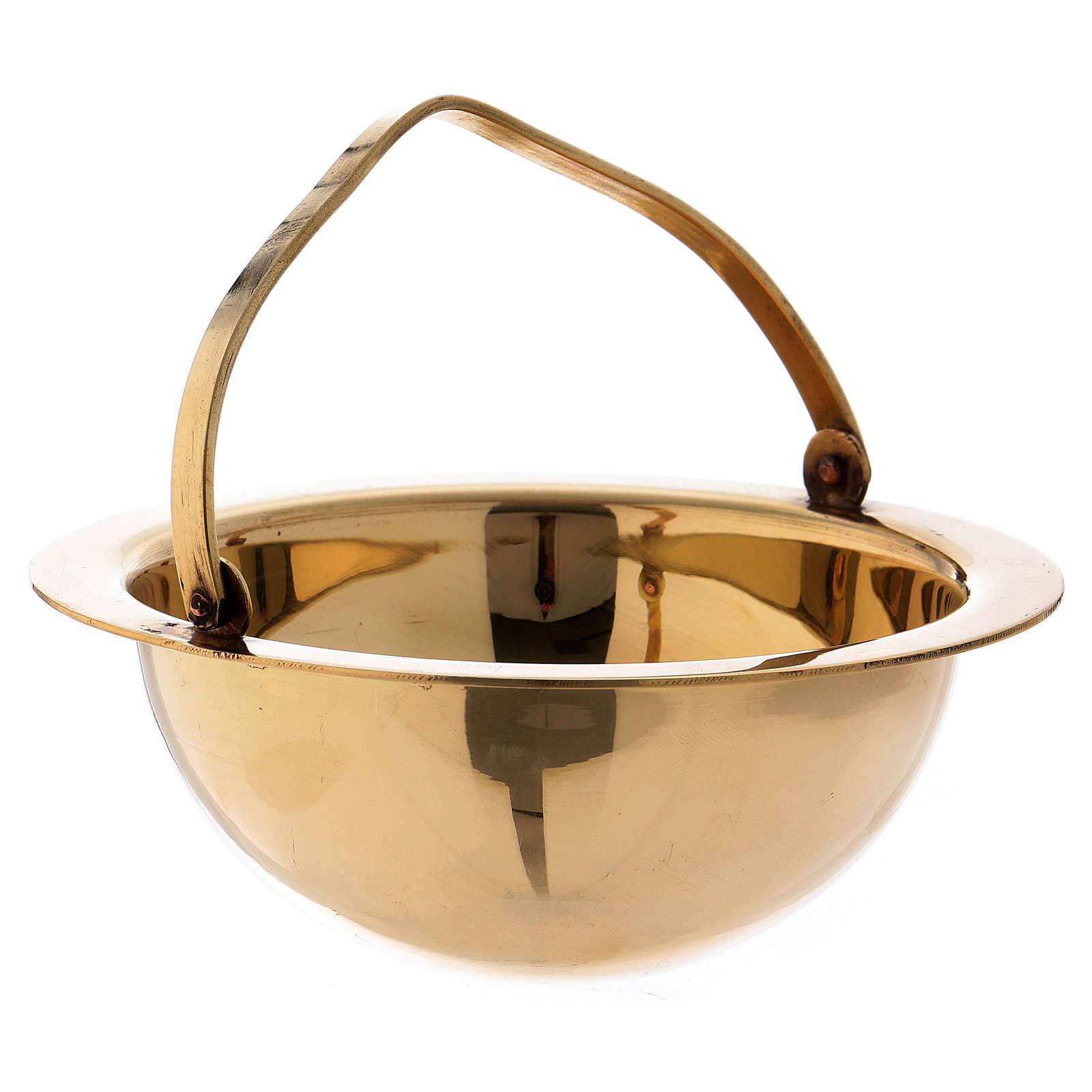 Censer in golden brass h 28 cm 3