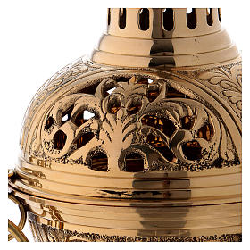 Censer in golden brass h 28 cm s2