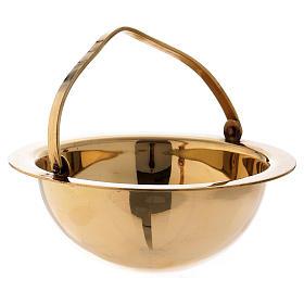 Censer in golden brass h 28 cm s4