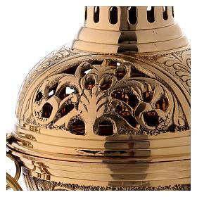 Incensario latón dorado h 28 cm s2