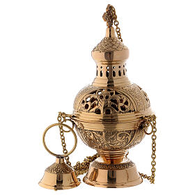 Gold plated brass thurible h 11 in s1