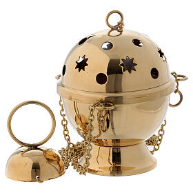 Thurible in shiny golden brass s1