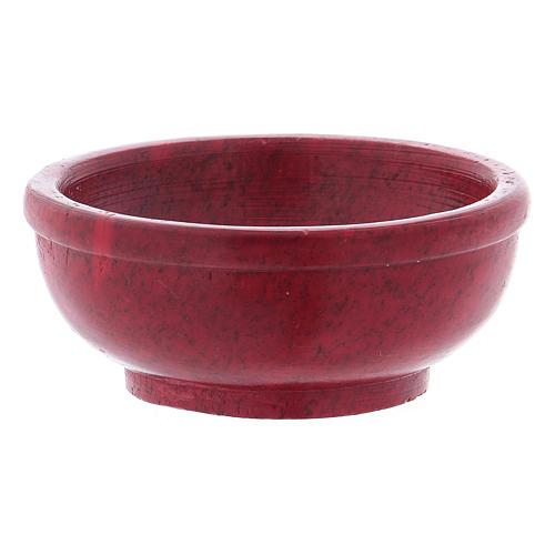 Bol encens stéatite rouge diam. 6,5 cm 2