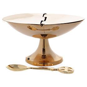 Naveta simple latón dorado efecto espejo 7 cm s1