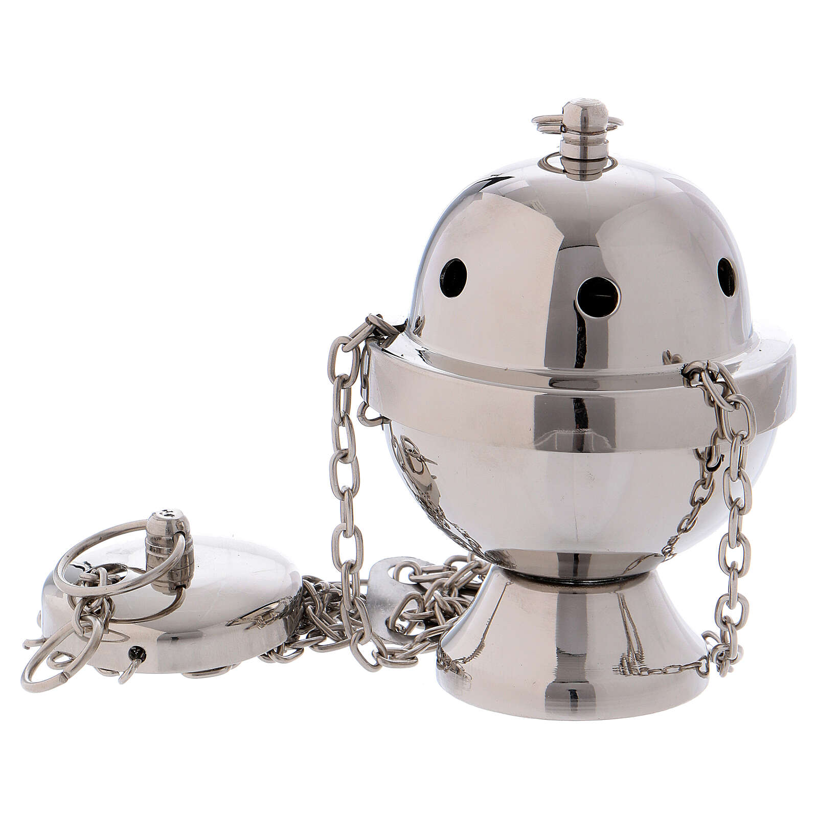 Thurible in silver-plated brass mirror effect 4 1/4 in 3