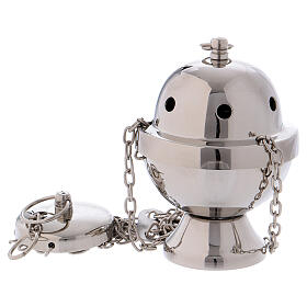 Thurible in silver-plated brass mirror effect 4 1/4 in s1