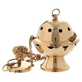 Turibolo semplice ottone dorato lucido 11 cm s1