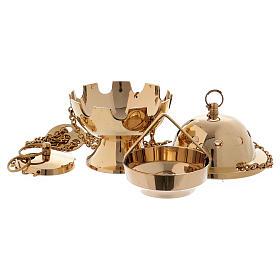 Turibolo semplice ottone dorato lucido 11 cm s2