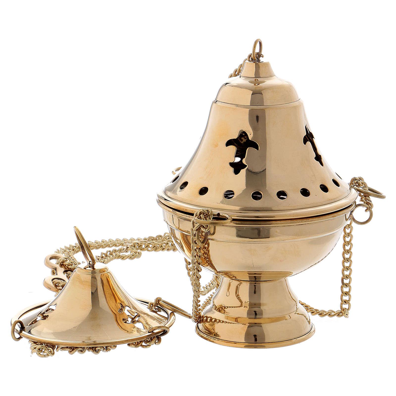 Censer in gilded brass - 18 cm 3