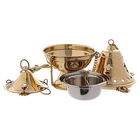 Censer in gilded brass - 18 cm s2