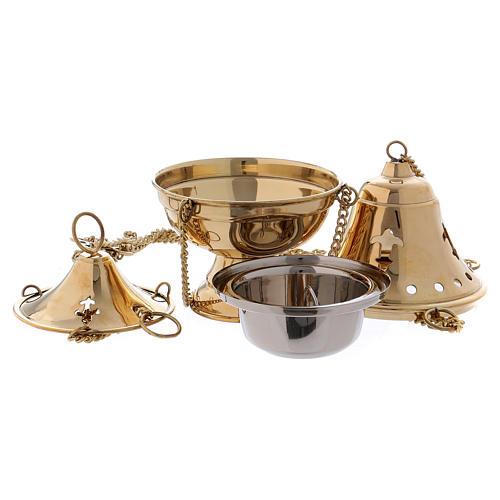 Censer in gilded brass - 18 cm 2