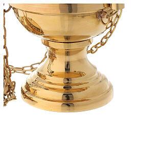 Turibolo ottone dorato con campanelli altezza 24 cm s3