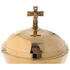 Shuttle for golden brass thurible 12 cm s2