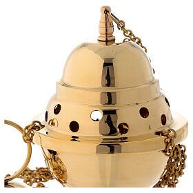 Turibolo ottone dorato 15 cm s3