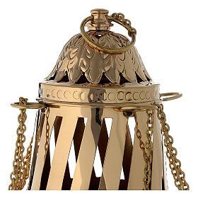 Turibolo ottone dorato stile Santiago h 33 cm s2