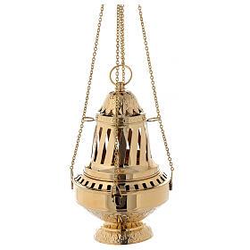 Turibolo ottone dorato stile Santiago h 33 cm s6