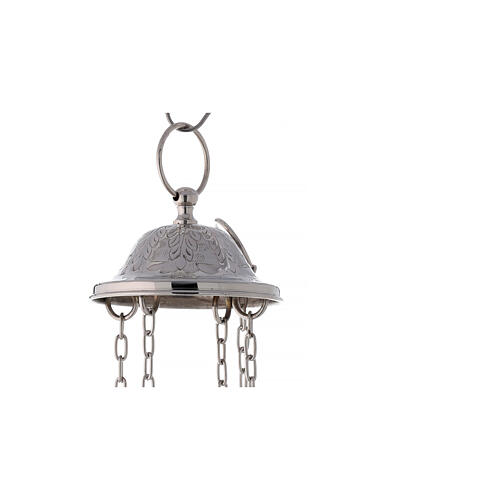 Santiago style thurible in nickel-plated brass h 13 in 6