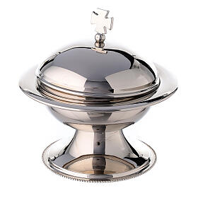 Round thurible in silver plated brass with boat s3