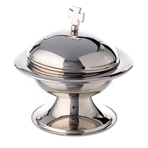 Round thurible in silver plated brass with boat 3
