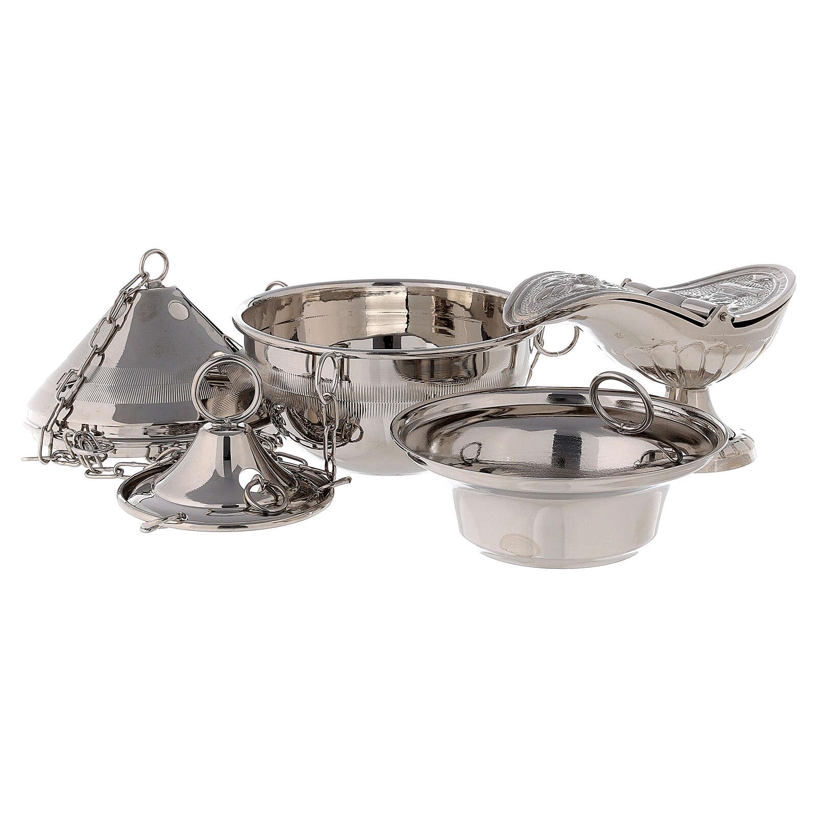 Turibolo in ottone tono argento  3