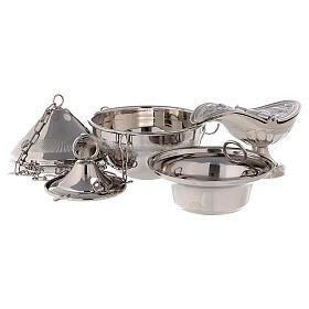 Turibolo in ottone tono argento  s2