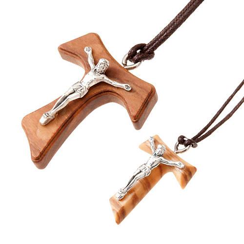 Pendentif croix tau en métal 2