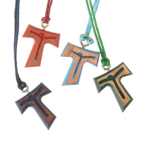 Wisiorek Tau sznurek kolorowy 1