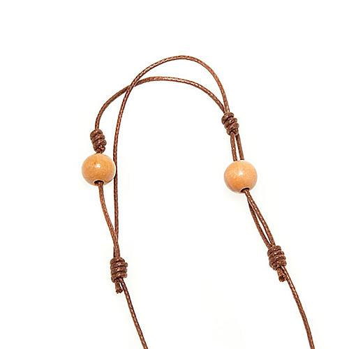 Pendente collana Tau con grani 3