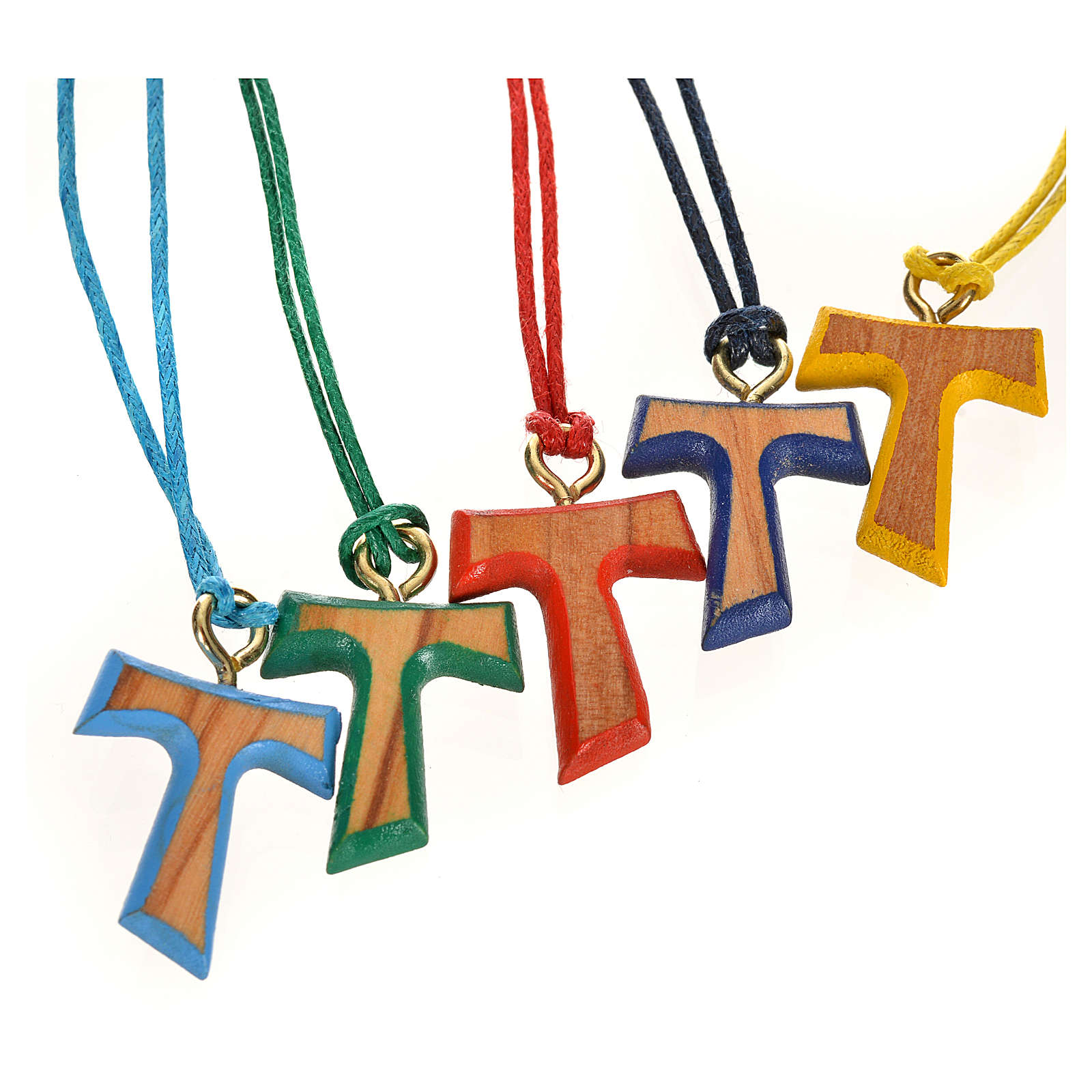 Coloured tau cross pendant 4
