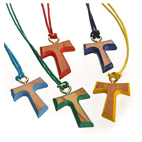 Tau cross pendants: Coloured tau cross pendant