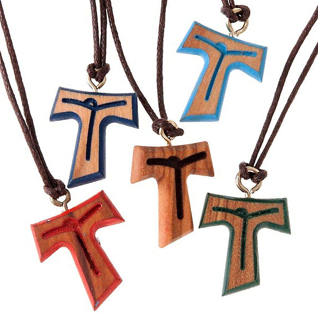 Wisiorek Tau sznurek brązowy 4