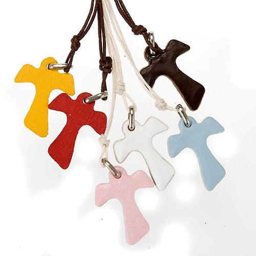 Tau Pendant in leather, various colours 1