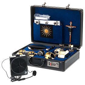 Podróżny zestaw liturgiczny z amplifikatorem, walizka s1