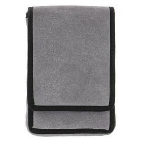 Estuche altar gamuzado gris con bolsillo s9