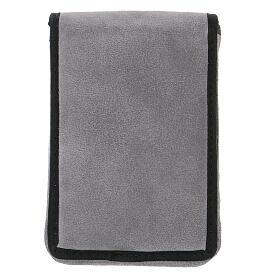 Estuche altar gamuzado gris con bolsillo s10
