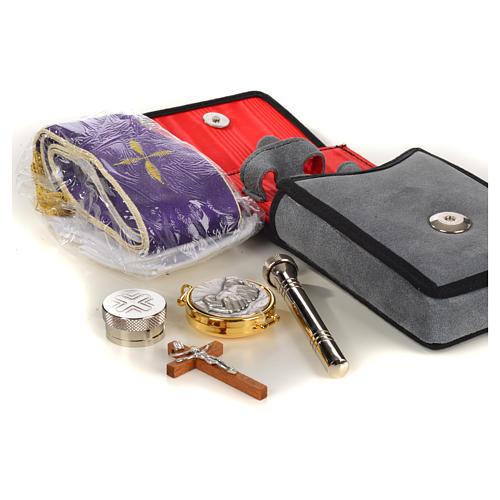 Estuche altar gamuzado gris con bolsillo 2