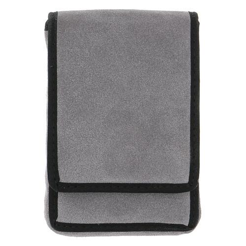 Estuche altar gamuzado gris con bolsillo 9