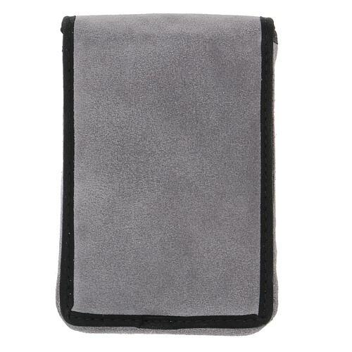 Estuche altar gamuzado gris con bolsillo 10