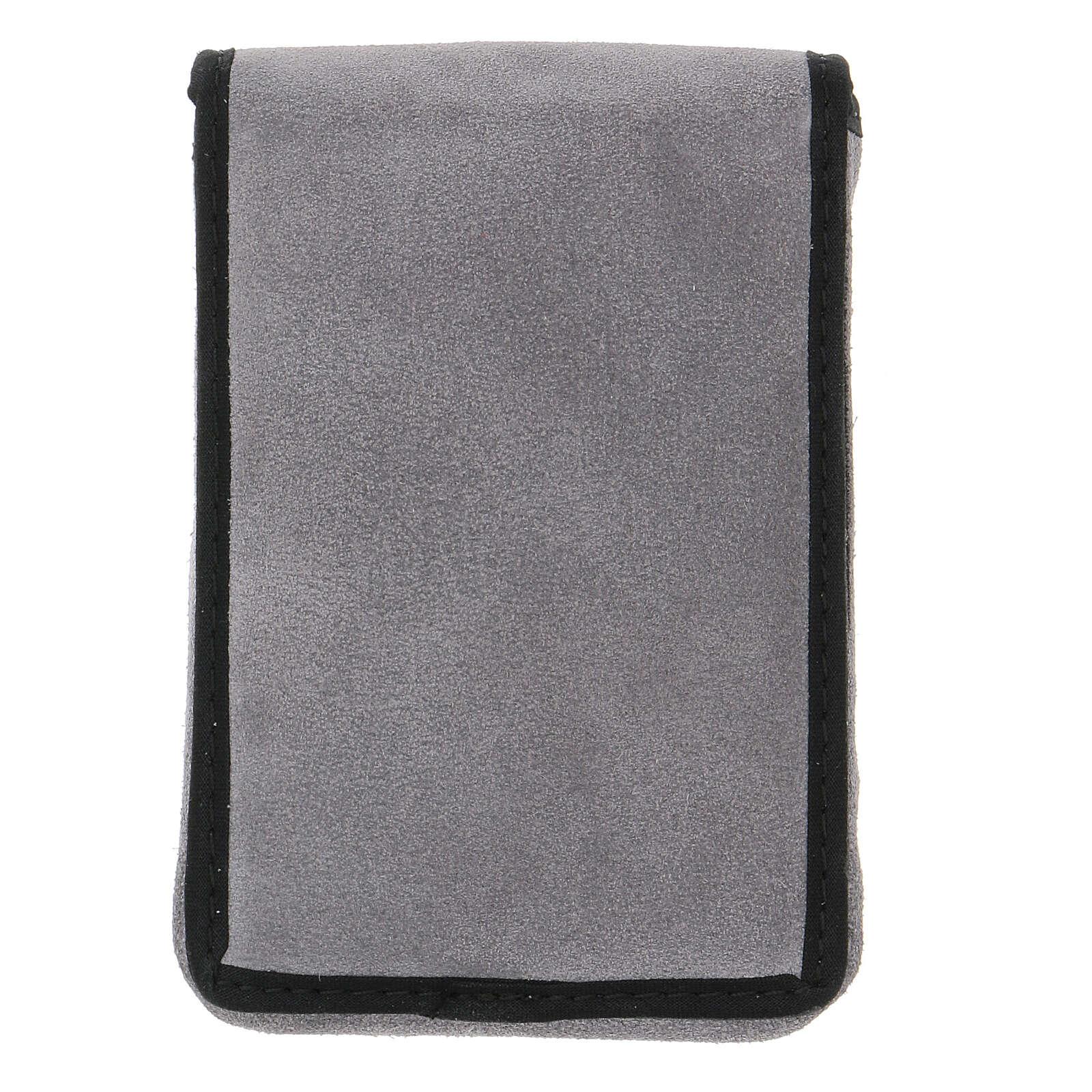 Completo per viatici scamosciato grigio e tasca 3