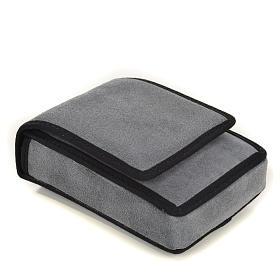 Estojo para viático camurça cinzenta e bolso s3