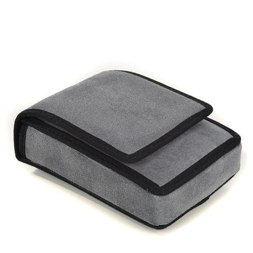 Estojo para viático camurça cinzenta e bolso 3