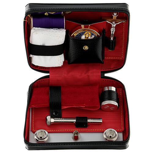 Viaticum set leather case with altar 1